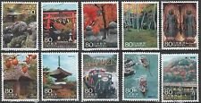 Japan 3055a-j Scenery of the trip 1 Kyoto. Singles from sheet [10 used]