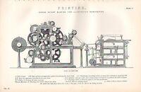 1880 Aufdruck ~ Druck ~ Ingram Rotierende Maschine Für Illustrierte Zeitungen