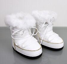 New Authentic Gucci Kids Fur Trim Boot w/Interlocking G, 32/US 1, 298369