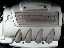 Renault Clio 172 / 182 Negro Inoxidable cubierta del motor Pernos