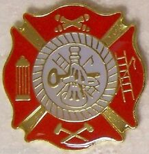 Hat Lapel Pin Push Tie Tac Fire Department Logo NEW