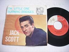 PICTURE SLEEVE Jack Scott Burning Bridges / Oh Little One 1960 45rpm