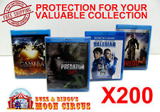 200x BLU-RAY WITHOUT SLIPCOVER - CLEAR PROTECTIVE BOX PROTECTOR SLEEVE CASE