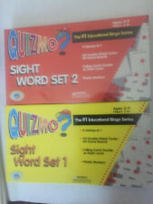 Media Materials Quizmo Sight Word Set 1 and Set 2 Education Bingo Series New!