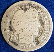 1896 Silver Barber Dime  ID #54-31