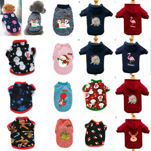 Winter Pet Cat Puppy Dog Clothes Small Dog Warm Sweater Hoodie Shirt Coat Jacket