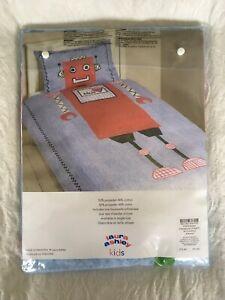 BNWT Laura Ashley Kids Robot Single Duvet Cover And Pillowcase.