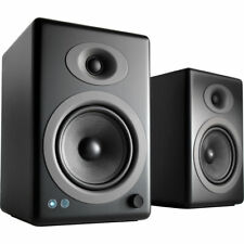 Audioengine A5+ Wireless 2-Way Active Bluetooth Bookshelf Speakers (Satin Black)