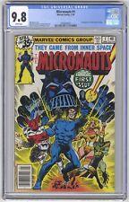 Micronauts #1 CGC 9.8 HIGH GRADE Marvel Comic KEY 1st Baron Karza & Bug