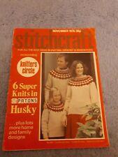 Original Vintage Stitchcraft Magazine November 1975
