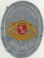 Polizei BREMEN SCHUTZPOLIZEI HEMD 60er JAHRE  Abzeichen NEU Patch Stoffabzeichen
