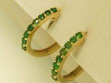 Emerald Huggie Fine Earrings