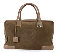 LOEWE $2,690 Taupe Suede Leather Trim AMAZONA 44 Travel Satchel Bag