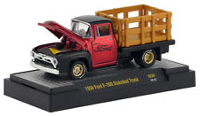 M2 MACHINES 32600 AUTO-MEETS CANDY RED 1956 FORD F-100 STAKEBED TRUCK