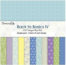 DOVECRAFT BACK TO BASICS IV PAPERS - 6 X 6 SAMPLE PACK  - 12 SHEETS