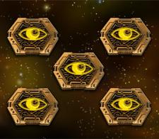 Star Wars: X-Wing Miniature Games Metal Scum Focus Tokens -- Broken Egg Games