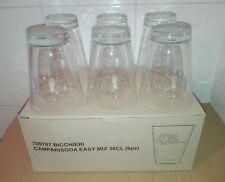 Raro Set 6 Bicchieri di Vetro Campari Soda Milano Lavorazione Stampo Particolare