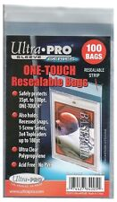 Pack of 100 Ultra Pro One-Touch Resealable Bags for Card Holders