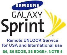 GSM SIM Unlock Sprint Samsung S6, S6 Edge, S6 Edge+, Note 5, J3, remote unlock