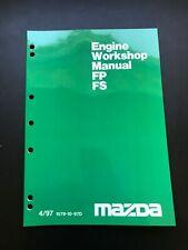 Mazda FP & FS Engine Overhaul Manual 01/98