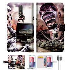 Iron Maiden Wallet TPU Case Cover For  Motorola Moto G5 Plus -- A014