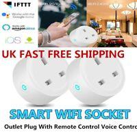 UK Smart WiFi Socket 2G3G/4G Timer Outlet Switch UK Plug For Amazon Alexa Google