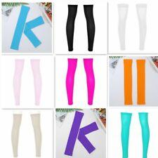 Mens Socks Stocking Thigh High Full Legs Sports Sleeve Footless Knee Brace Calf