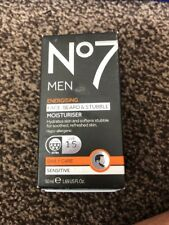 NO7 MEN ENERGISING FACE, BEARD & STUBBLE  1 X   50ml NEW AND BOXED