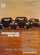 1986 Peugeot 505 Intercooled Turbo Original Advertisement Print Art Car Ad J714