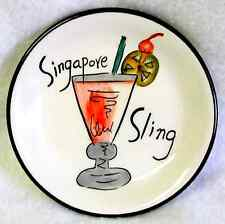HAUSENWARE Appetizer Canapé Snack Plate MARY JANE MITCHELL Singapore Sling