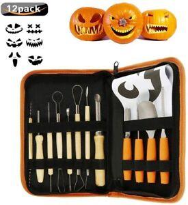 12Pcs/Set Profession Halloween Pumpkin Carving Tools Kit DIY Cutting Sculpting