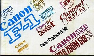 Canon Products Guide from 1971
