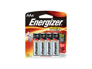 Energizer MAX AA Alkaline Batteries, LR6, Pack of 5 (4+1), Long life batteries
