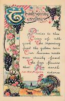 THANKSGIVING – Poetic Postcard - 1919