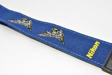 *Rare* Nikon bird camera vintage strap embroidered blue for professional #1432