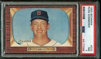 1955 Bowman BB Card #222 Russ Kemmerer Boston Red Sox ROOKIE CARD PSA NM 7 !!!