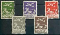 Dinamarca, Aéreo. MH *Yv 1/5. 1925. Serie completa. MAGNIFICA. Yvert 2012: 425