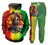 Bob Marley Lion 3D print Men Women Sweatshirt Hoodies Jogging pant Sport Suit