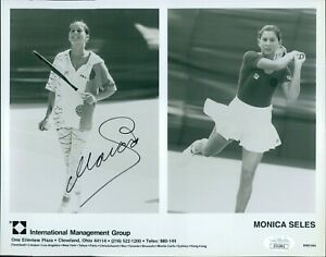 Monica Seles Tennis Star Signed 8x10 Glossy Photo JSA Authenticated