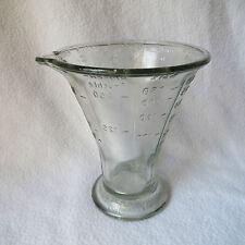 alter Wilmking GWG Glas-Messbecher Pressglas Glasmessbecher D.R.G.M 250ml TOP