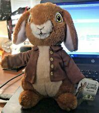 Brand New Peter Rabbit Plush Benajmin Easter Movie Bunny Gift Beatrix Potter