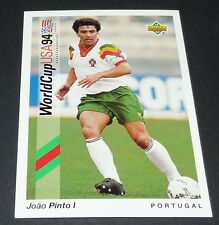 JOAO PINTO FC PORTO PORTUGAL FOOTBALL CARD UPPER DECK USA 94 PANINI 1994 WM94