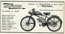 PUBBLICITA' 1952 MINI MOTOR VELTRO 49 CC. MOTO CICLOMOTORE DUE TEMPI DUE MARCE