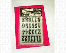 Letraset 1:32 Decals Black 5/8 Inch Number Set V36-B Slot Car Numbers