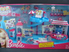 NEW Squinkies Barbie Deluxe 3-in-1 Playset Surprize Pool Stable Stage Surprise