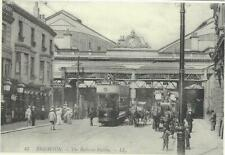 Horse Postcard -REPRINT -Majestic Cards- Brighton-Railway Station