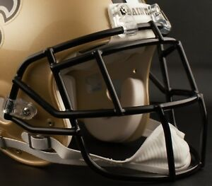 REGGIE BUSH NEW ORLEANS SAINTS Schutt EGOP Football Helmet FACEMASK NFL - BLACK