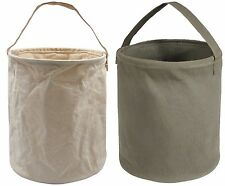 Canvas Collapsible Water Bucket / Tool Carrier Natural Or Olive Drab  Rothco