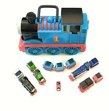 Thomas The Train Take N Play 17 Car Holder Carrying Case with 11 Trains Lot 12