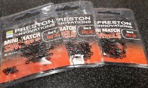 Preston Innovations Mini Match Swivels Size 8 x 3 Packets